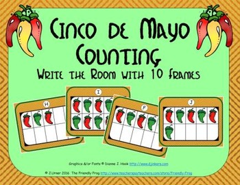 Cinco de Mayo Counting with Ten Frames {Subitizing}