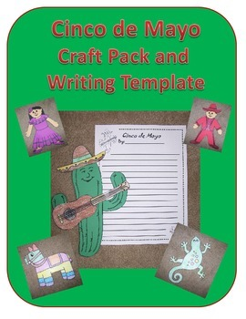 Cinco de Mayo Craft Pack and Writing Template