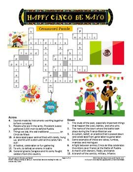 Cinco de Mayo Crossword Puzzle
