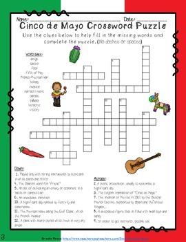 Cinco de Mayo Crossword Puzzles