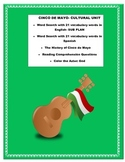 Cinco de Mayo- Cultural Unit- Reading & Questions -Great U