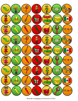 Cinco de Mayo Cupcake Walk Toppers and Numbers