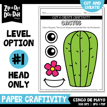 Cinco de Mayo Cut & Create Writing Craftivity {Zip-A-Dee-Doo-Dah Designs}