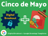 Cinco de Mayo Digital Bundle (Digital Breakouts, Google Drawings Templates)