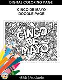 Cinco de Mayo Doodle Coloring Page