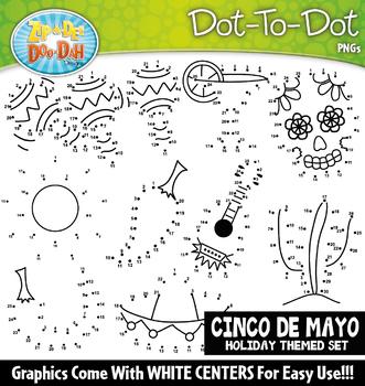 Cinco de Mayo Dot-To-Dot Clipart {Zip-A-Dee-Doo-Dah Designs}
