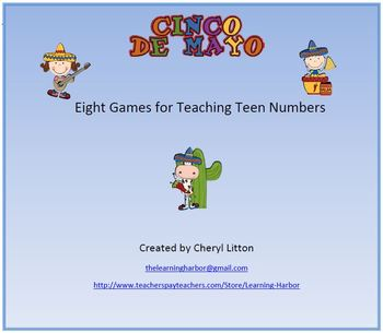 Cinco de Mayo Eight Games for Teen Numbers