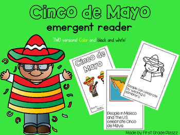 Cinco de Mayo Emergent Reader Read and Color