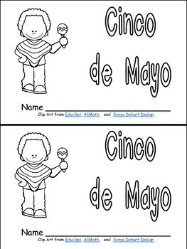 Cinco de Mayo Emergent Reader for Kindergarten