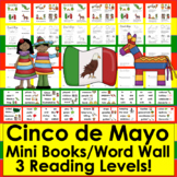 Cinco de Mayo Activities:  Readers - 3 Reading Levels -  Illustrated Word Wall