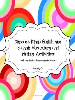 Cinco de Mayo English to Spanish Vocabulary and Writing Activities!