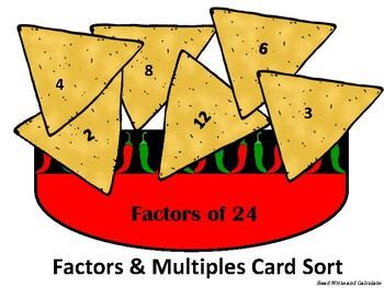 Chips & Salsa: Factors and Multiples Sort