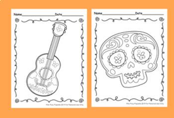 Cinco de Mayo Fiesta Coloring Pages - 8 Designs