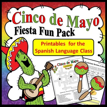 Spanish Cinco de Mayo Worksheets (Fiesta Fun Pack)