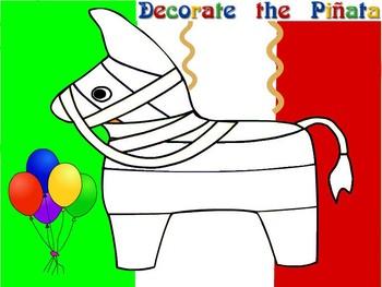 Cinco de Mayo- Find hidden words within the phrase and make a piñata