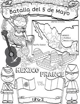 Cinco de Mayo Flip Book Research Project, Activities, Map Work, Culture