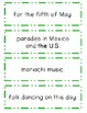 Cinco de Mayo Mini Book, Foldables, Fluency Center