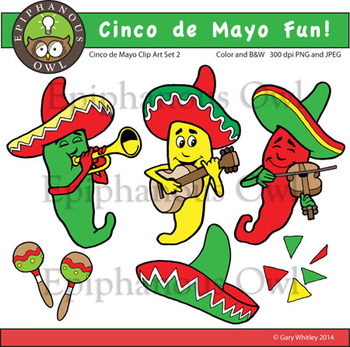 Cinco de Mayo Fun Clip Art Set 2