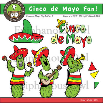 Cinco de Mayo Fun Clip Art Set 3