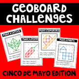 Cinco de Mayo Geoboard Geometry Challenges -Holiday Task Cards-Fine Motor Skills