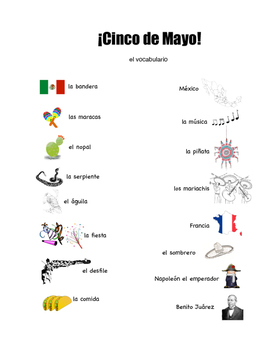 Cinco de Mayo Grades 6-12 Activity Packet with Bingo