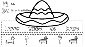 Cinco de Mayo Headband Activity Cut and Color