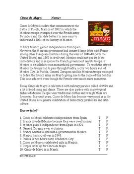 Cinco de Mayo - Hispanic Cultural Reading (English Version)