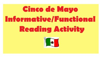 Cinco de Mayo Informative / Functional Reading (Chunked)
