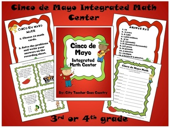 Cinco de Mayo Integrated Math Center (3rd-4th) Common Core aligned
