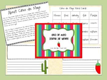 Cinco de Mayo Journal Jar Writing /Fun May ELA Cultural Writing Activity