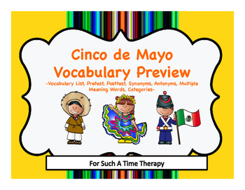 Cinco de Mayo Language Vocabulary Bundle Preview