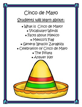 Cinco de Mayo Lapbook Kindergarten through 2nd Grade