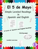 Cinco de Mayo Leveled Readings, Worksheets and Coloring in Spanish and English