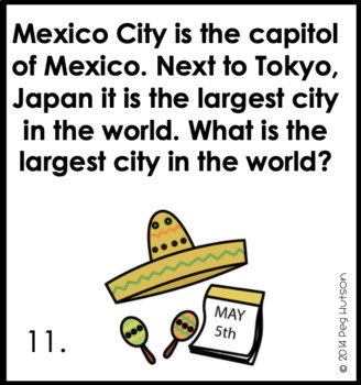 Cinco de Mayo: Listening Comprehension Cards