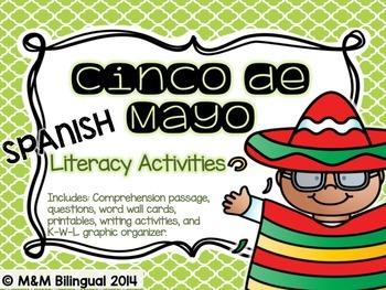 Cinco de Mayo Literacy Activities BILINGUAL