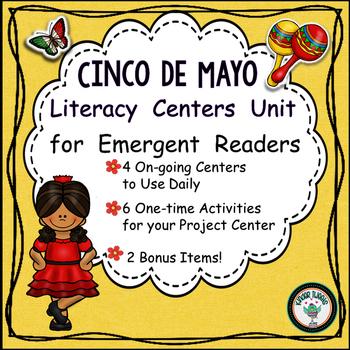 Cinco de Mayo  Literacy Center Activities for Emergent Readers