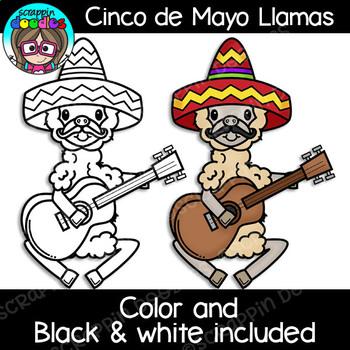 Cinco de Mayo Llamas Clipart {Scrappin Doodles Clipart}