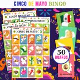 Cinco de Mayo Loteria   Spanish Bingo Game   Includes 50 Cards