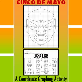 Cinco de Mayo - Lucha Libre - A Coordinate Graphing Activity