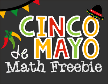FREE Cinco de Mayo Math Addition, Subtraction and Multiplication Solve and Color