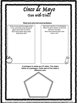 Cinco de Mayo Math Fun with Fives Early Elementary