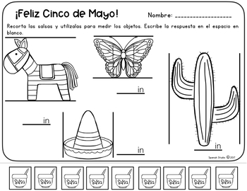 Cinco de Mayo. Math & Literacy Activities (Spanish) FREEBIE!