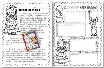 Cinco de Mayo Math & Literacy Fiesta Pack