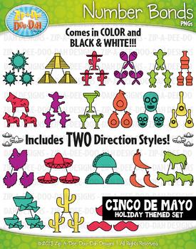 Cinco de Mayo Math Number Bonds Clipart {Zip-A-Dee-Doo-Dah Designs}