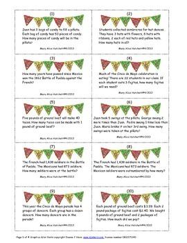 Cinco de Mayo - Math Pass Around Activity