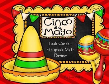 Cinco de Mayo Math Task Cards - 4th