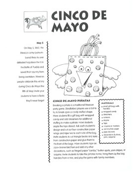 Cinco de Mayo: May 5th - Projects and Activities to Celebrate Cinco de Mayo