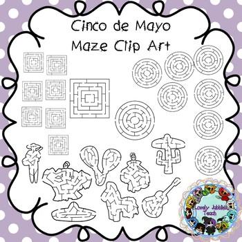 Cinco de Mayo Maze Clip Art