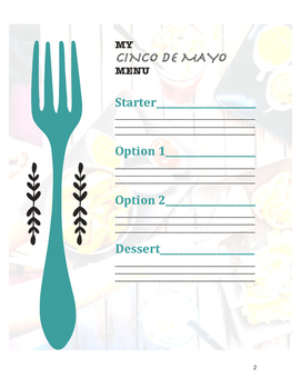 Cinco de Mayo Menu- Cultural Learning Experience