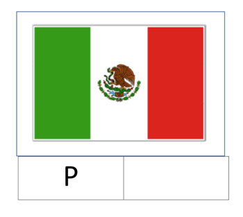 Cinco de Mayo Mexican flag letter work